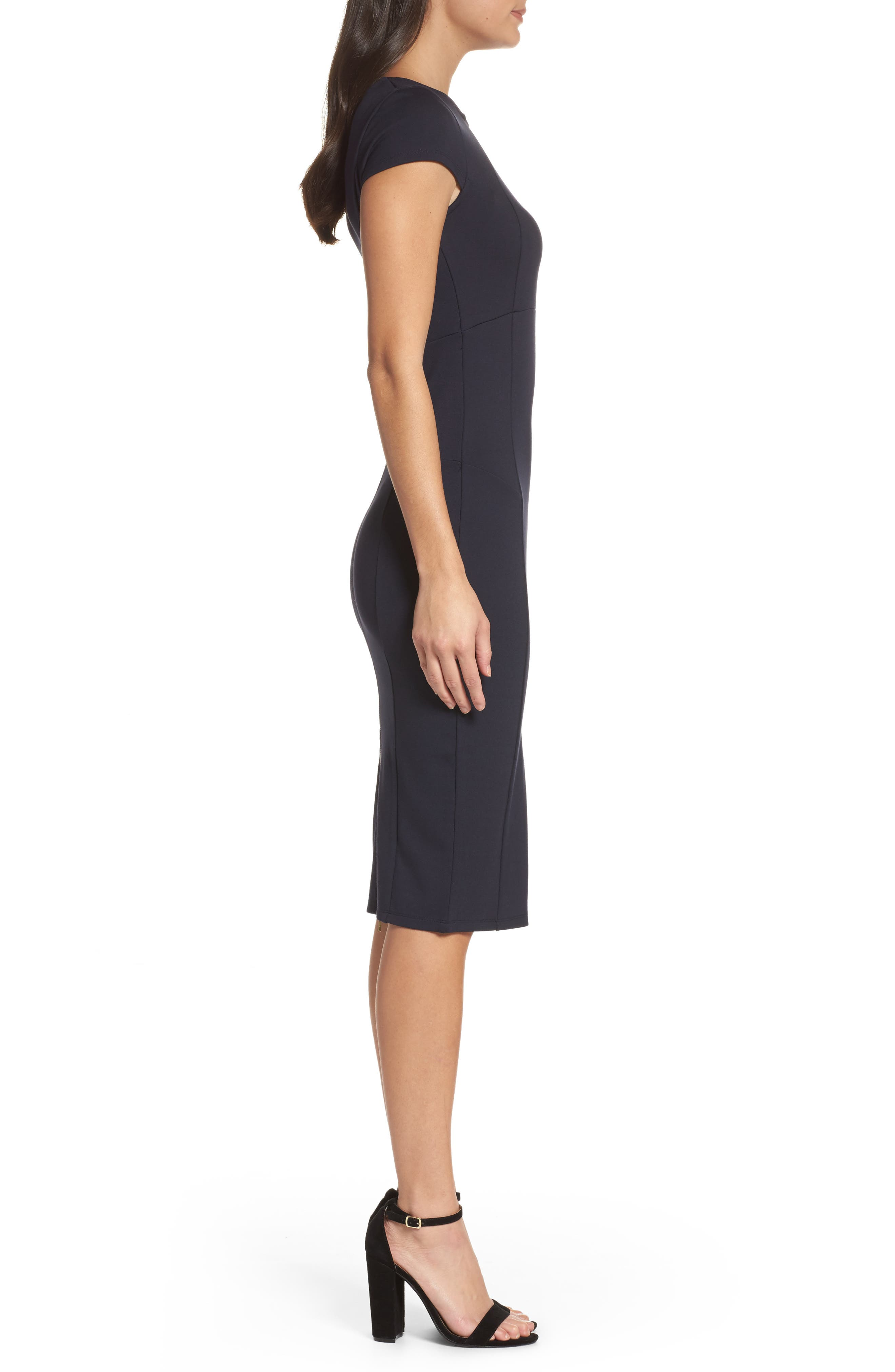,                             Ward Seamed Pencil Dress,                             Alternate thumbnail 12, color,                             400