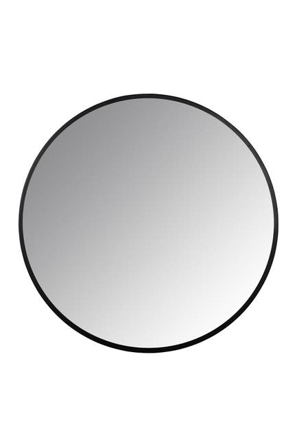 Image of Stratton Home Adriana Black Round Wall Mirror