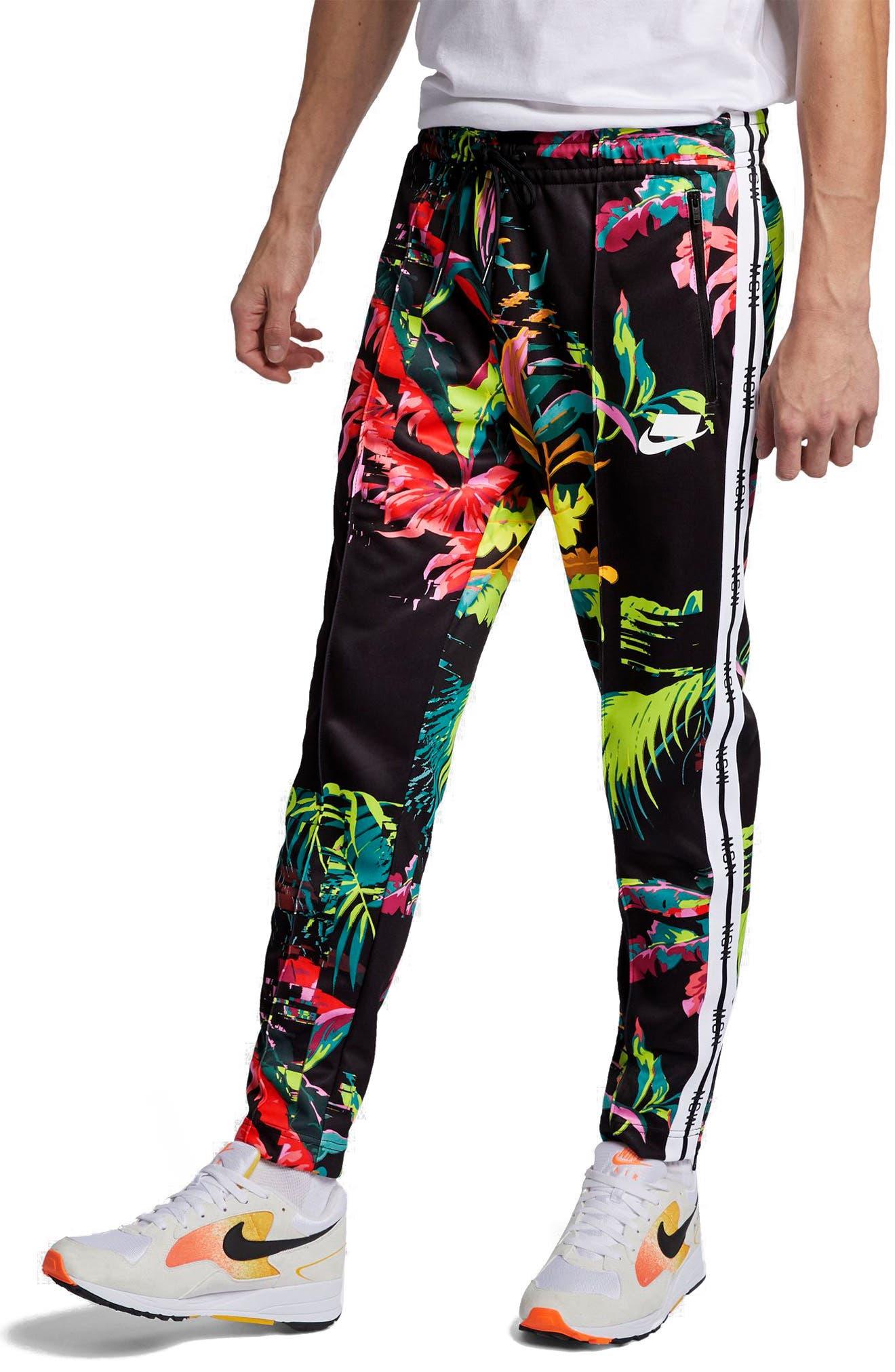 ,                             Sportswear NSW Track Pants,                             Main thumbnail 1, color,                             CYBER/ BLACK/ WHITE