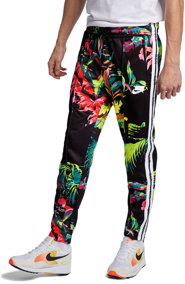 NIKE Sportswear NSW Track Pants, Main, color, CYBER/ BLACK/ WHITE