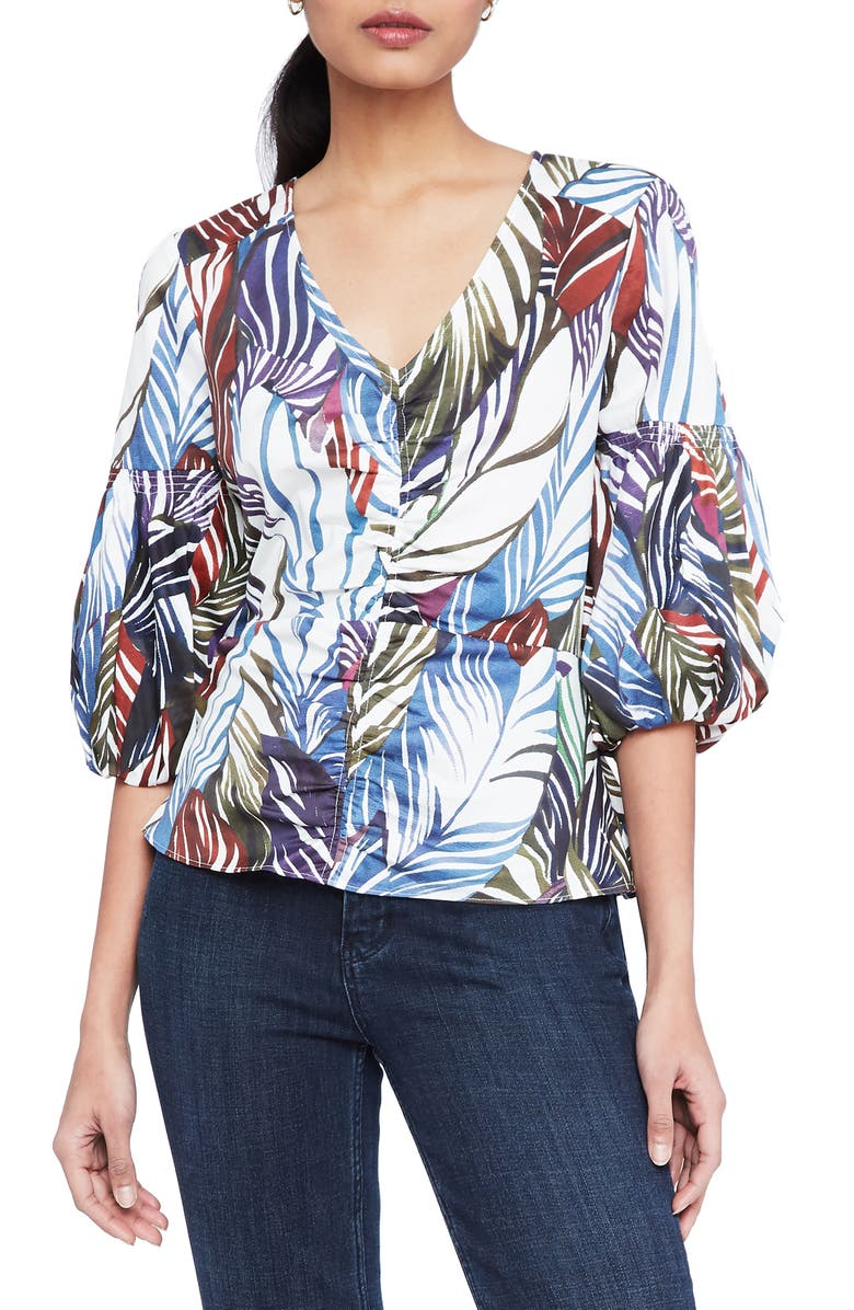PARKER Dita Blouse, Main, color, FEATHERED