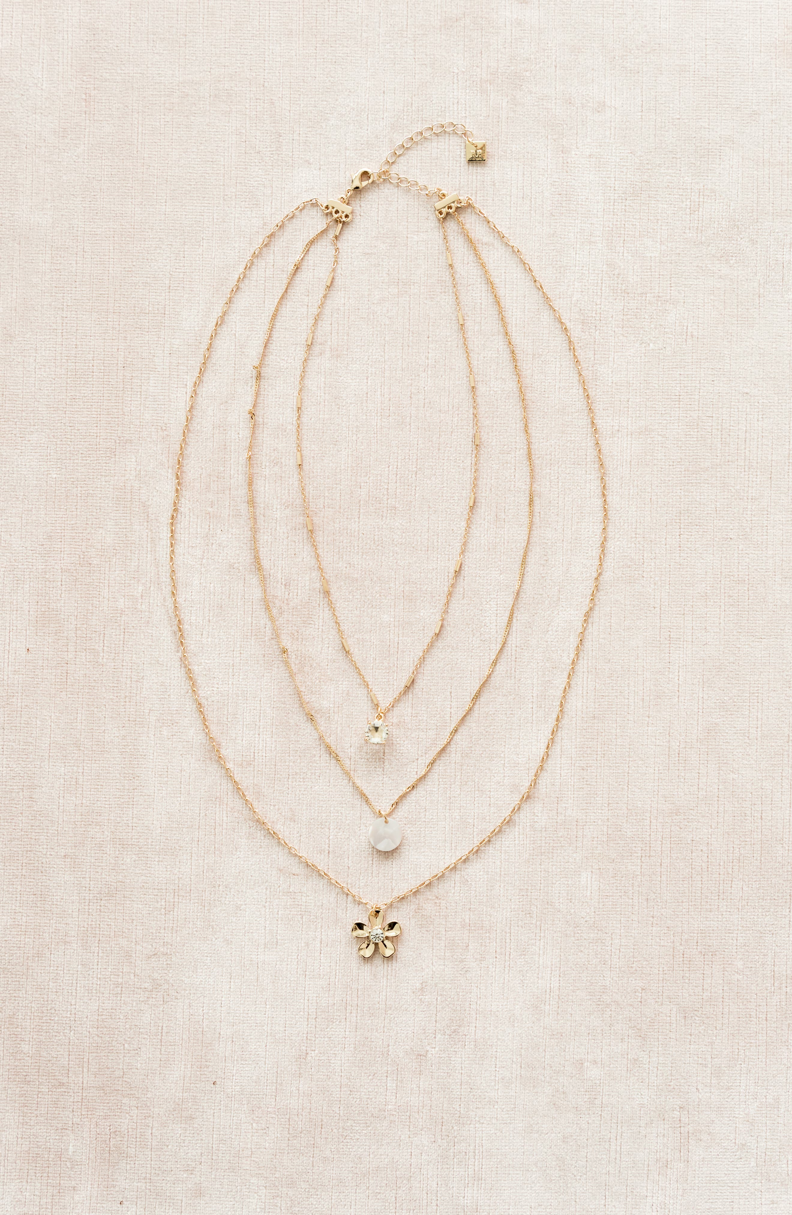 ,                             Layered Necklace,                             Alternate thumbnail 3, color,                             100