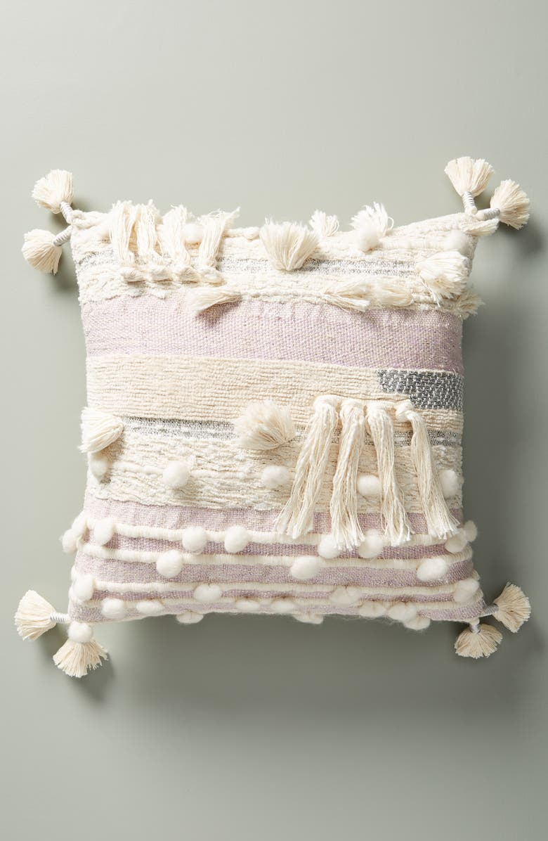ANTHROPOLOGIE HOME Anthropologie All Roads Design - Winter Sunset Accent Pillow, Main, color, 255
