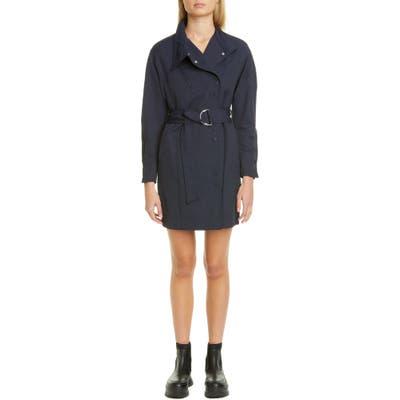 Stella Mccartney Twill Coat Dress, 4 IT - Blue