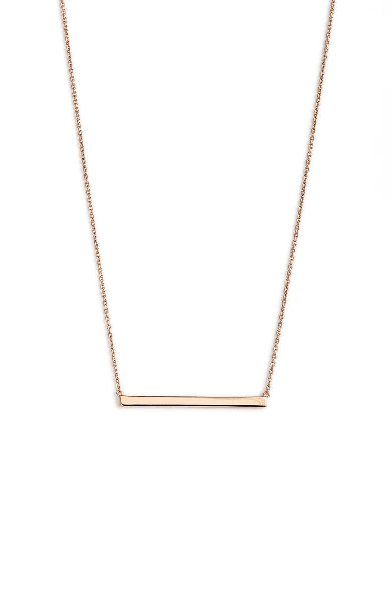 ARGENTO VIVO Bar Pendant Necklace, Main, color, ROSE GOLD