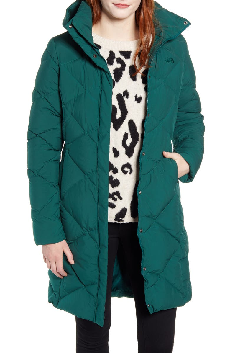 THE NORTH FACE Miss Metro II Water Repellent Hooded Parka, Main, color, BOTANICAL GARDEN GREEN