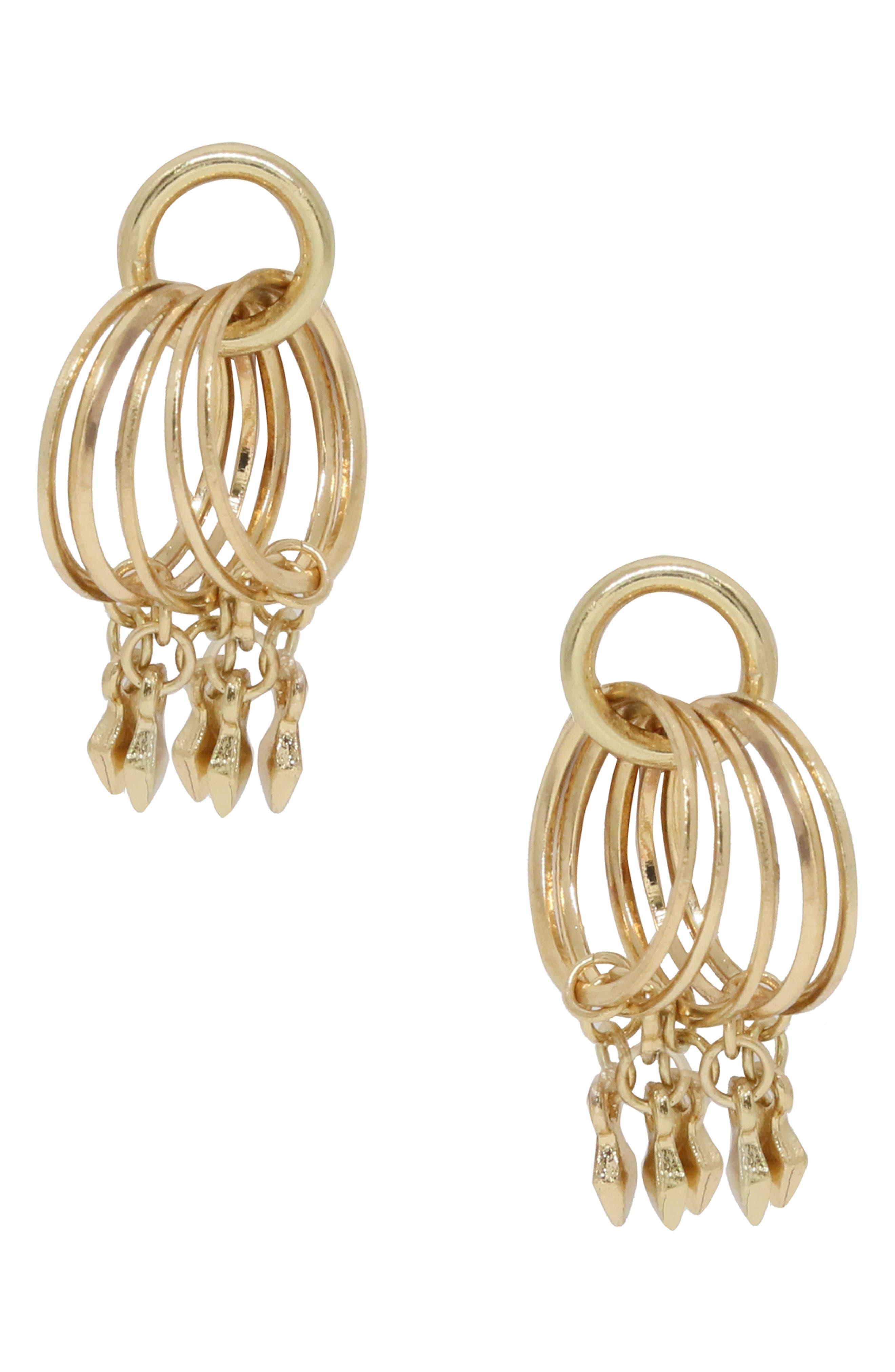 Charm Hoop Stud Earrings