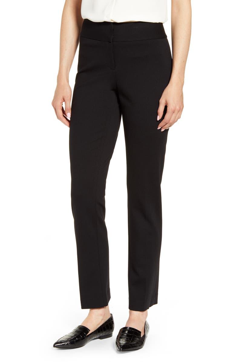 VINCE CAMUTO Ponte Ankle Pants, Alternate, color, BLACK