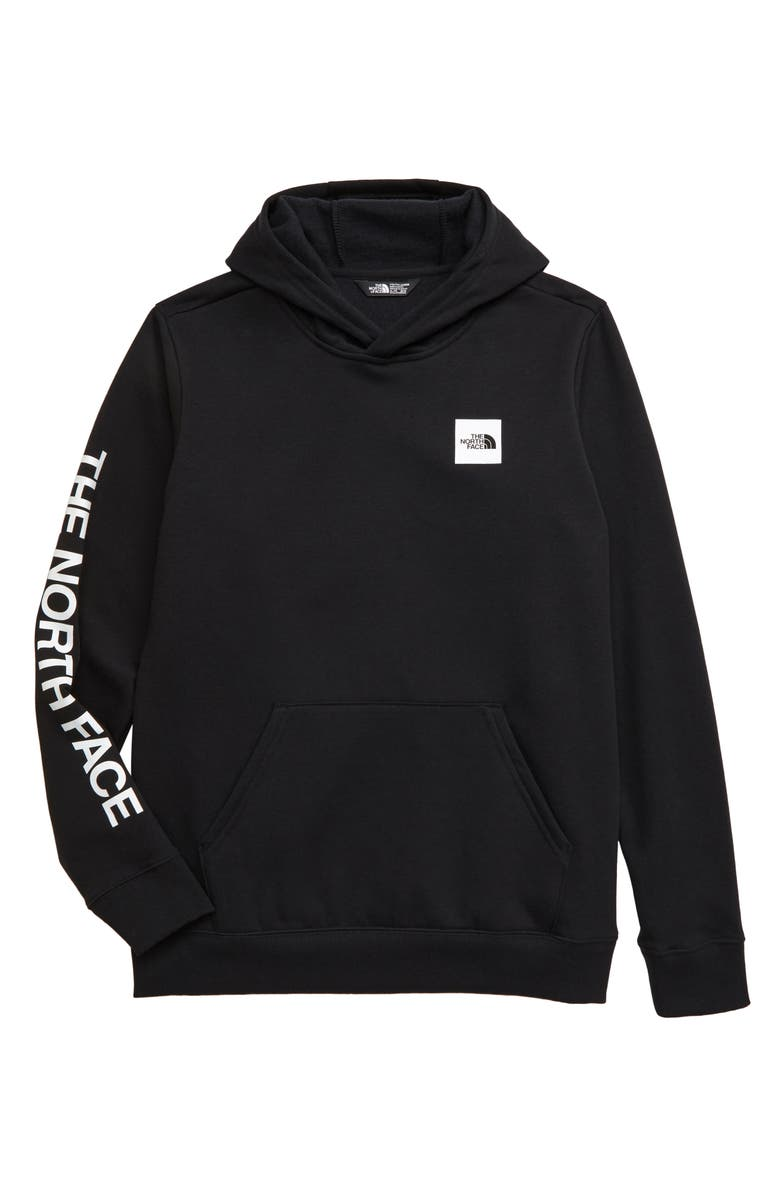 THE NORTH FACE Logowear Hooded Pullover, Main, color, TNF BLACK
