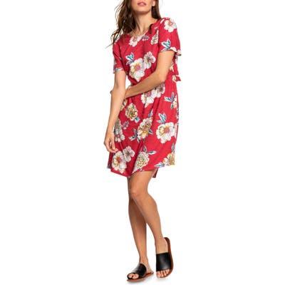 Roxy Hello Cilento Back Cutout Minidress, Red