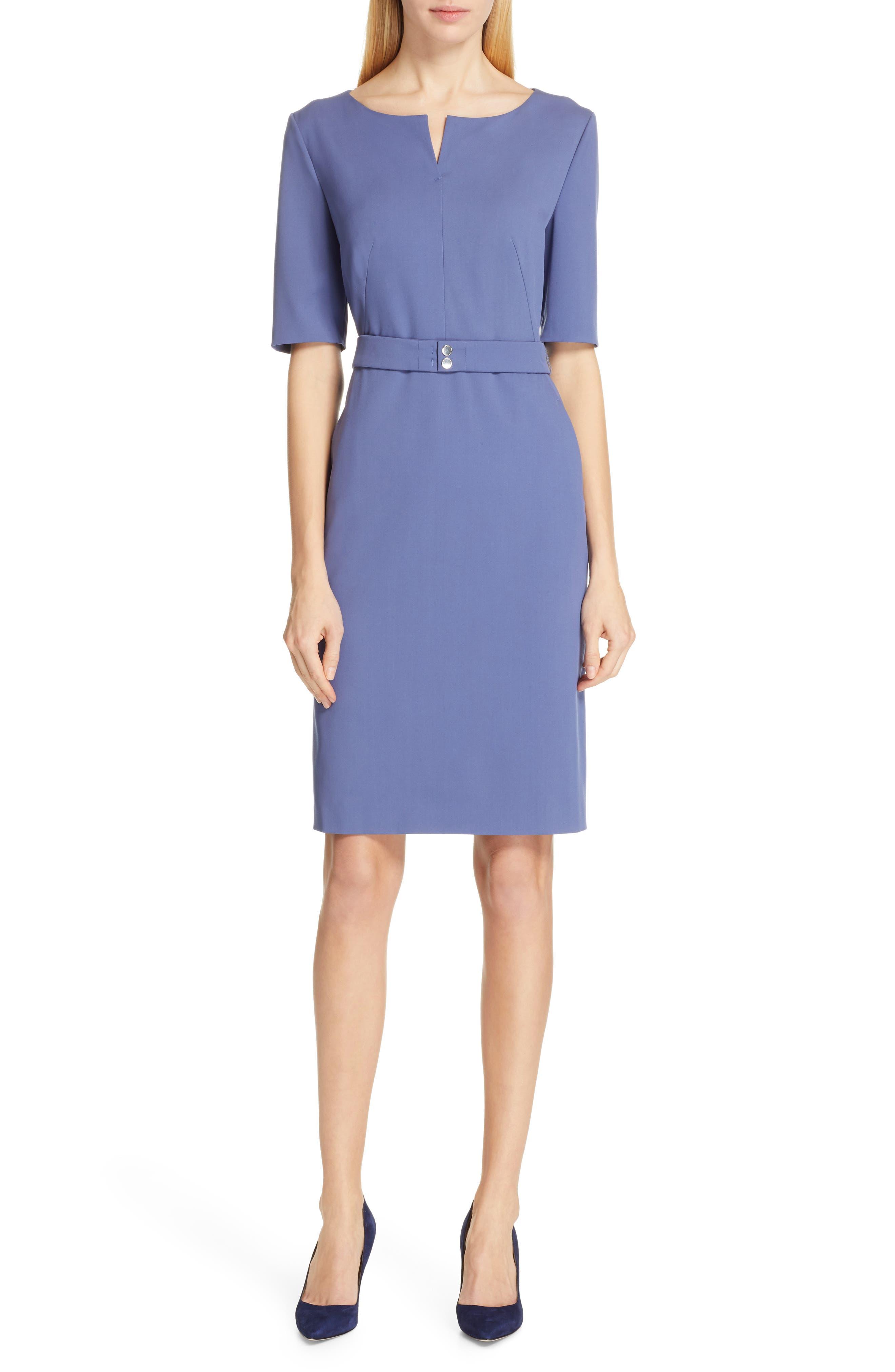 Boss Debaly Sheath Dress, Blue