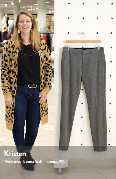Payton Marled Ponte Knit Straight Leg Pants, sales video thumbnail