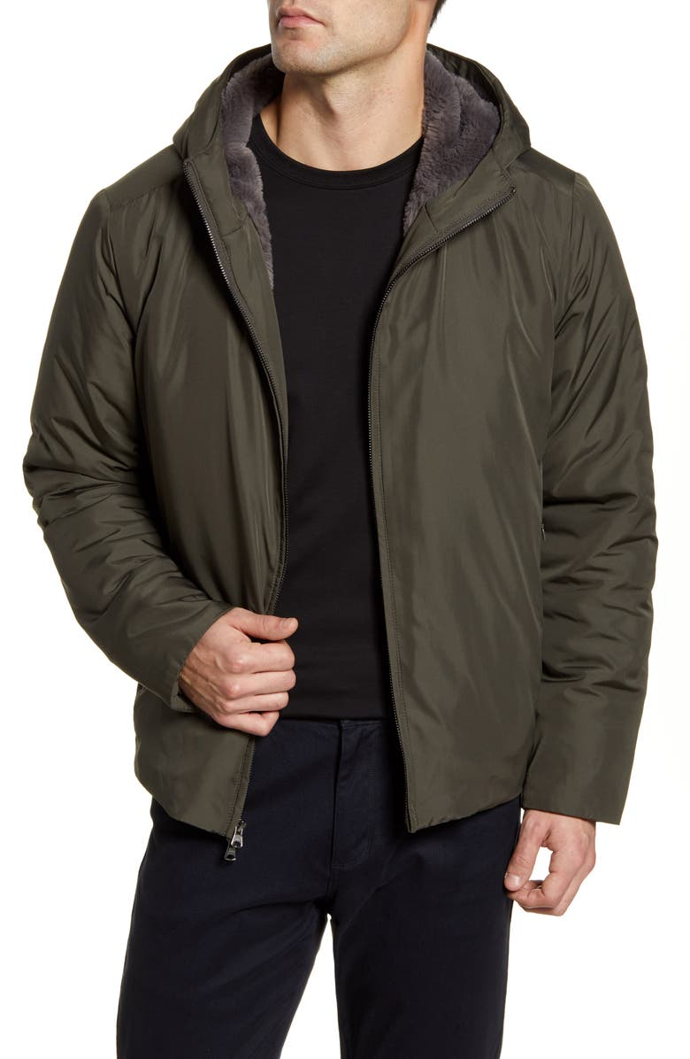 ZACHARY PRELL Glasgow Faux Fur Lined Jacket, Main, color, 314