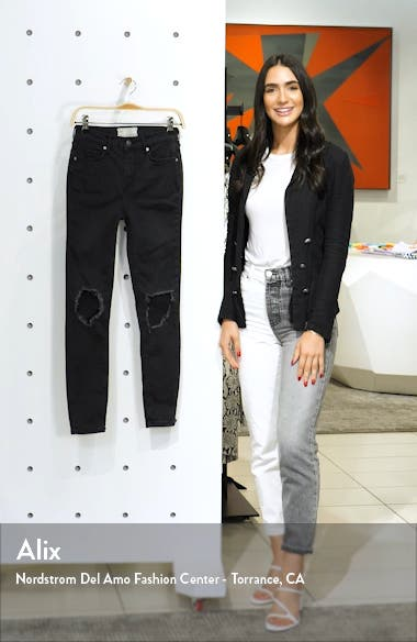 We the Free by Free People High Rise Busted Knee Skinny Jeans, sales video thumbnail