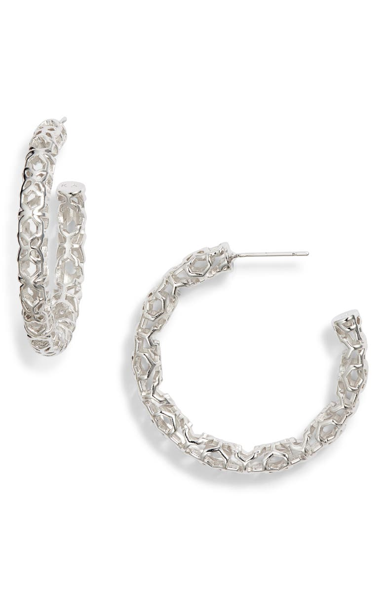 Maggie Medium Hoop Earrings, Main, color, 040