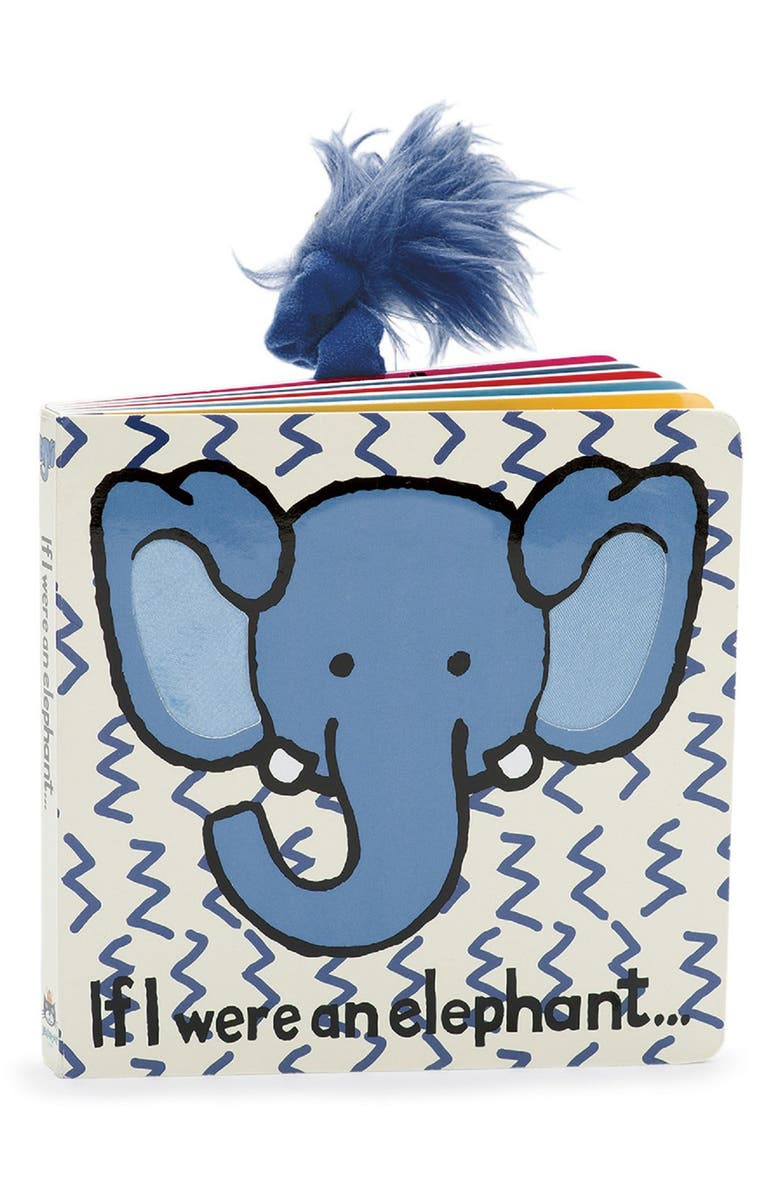 JELLYCAT 'If I Were an Elephant' Board Book, Main, color, IVORY