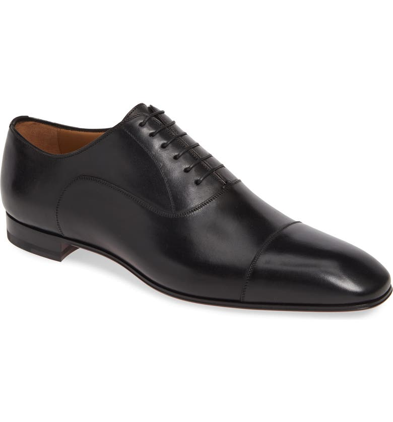 CHRISTIAN LOUBOUTIN Greggo Cap Toe Oxford, Main, color, 001