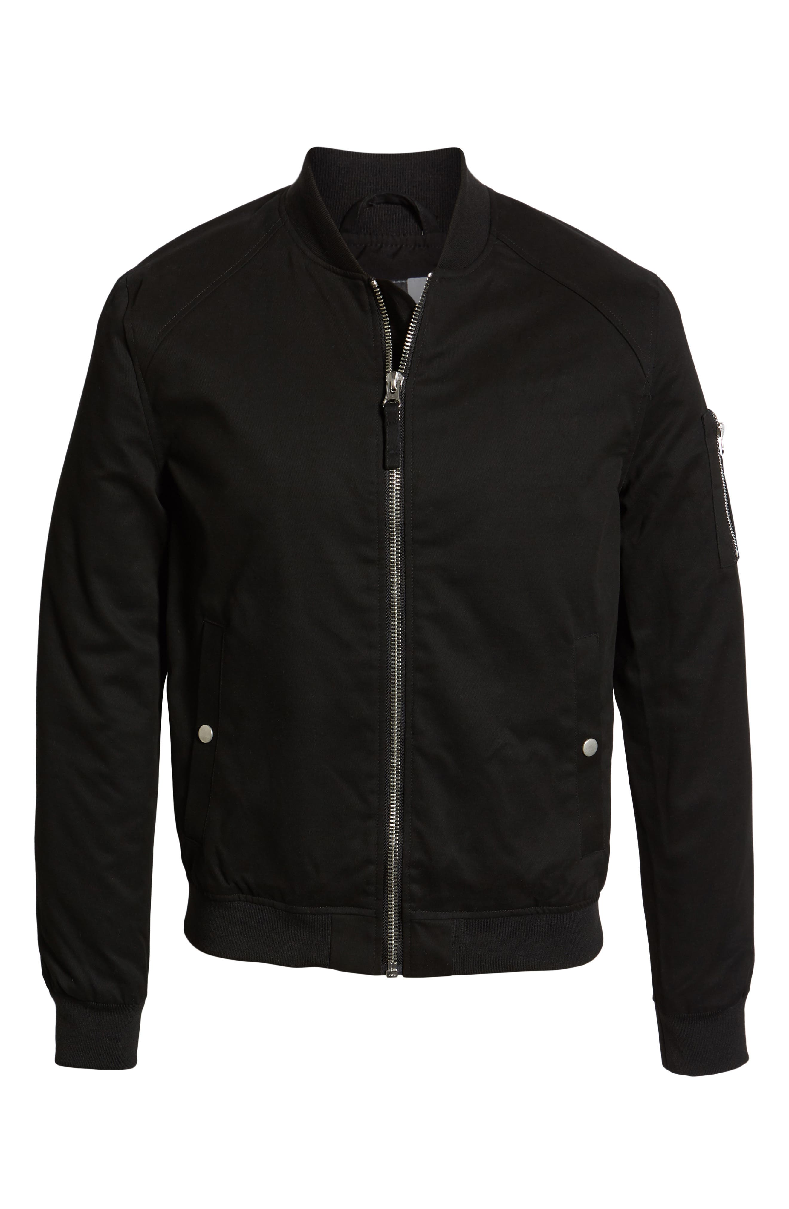 ,                             Woven Bomber Jacket,                             Alternate thumbnail 7, color,                             BLACK