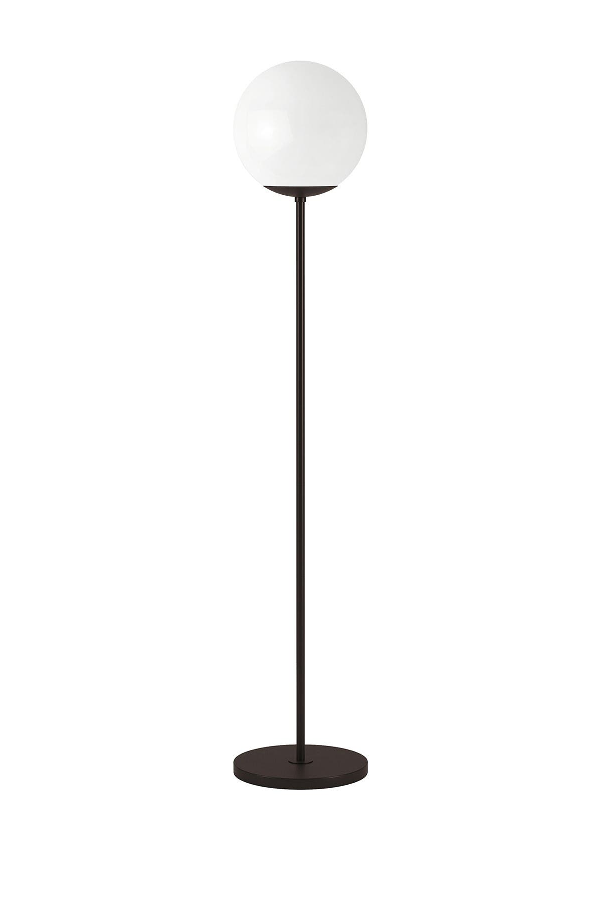 Image of Addison and Lane Theia Globe & Stem Floor Lamp - Blackened Bronze