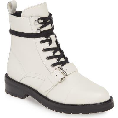 Allsaints Donita Combat Boot, White