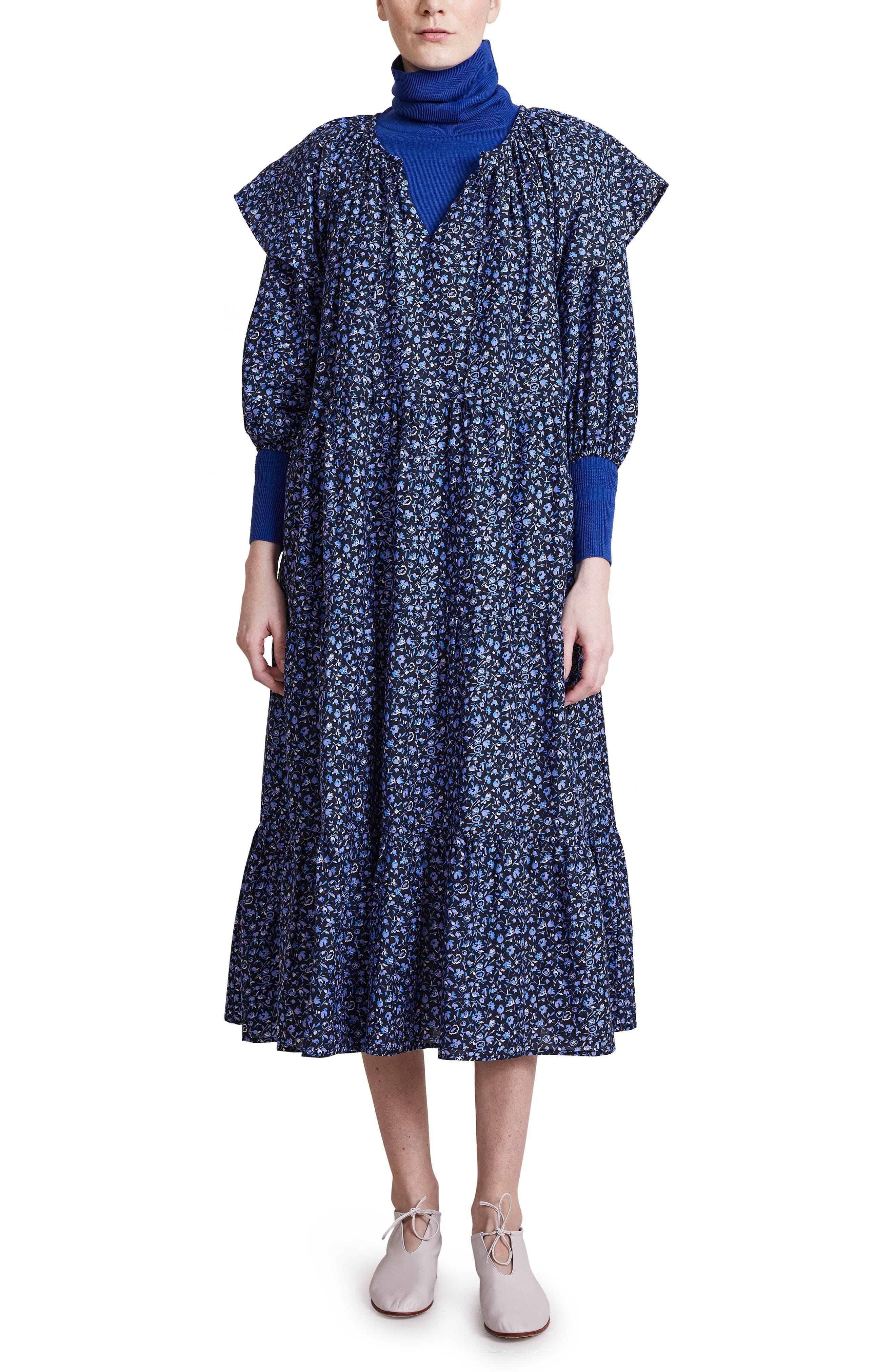 Mesa Floral Ditsy Cotton & Silk Midi Dress