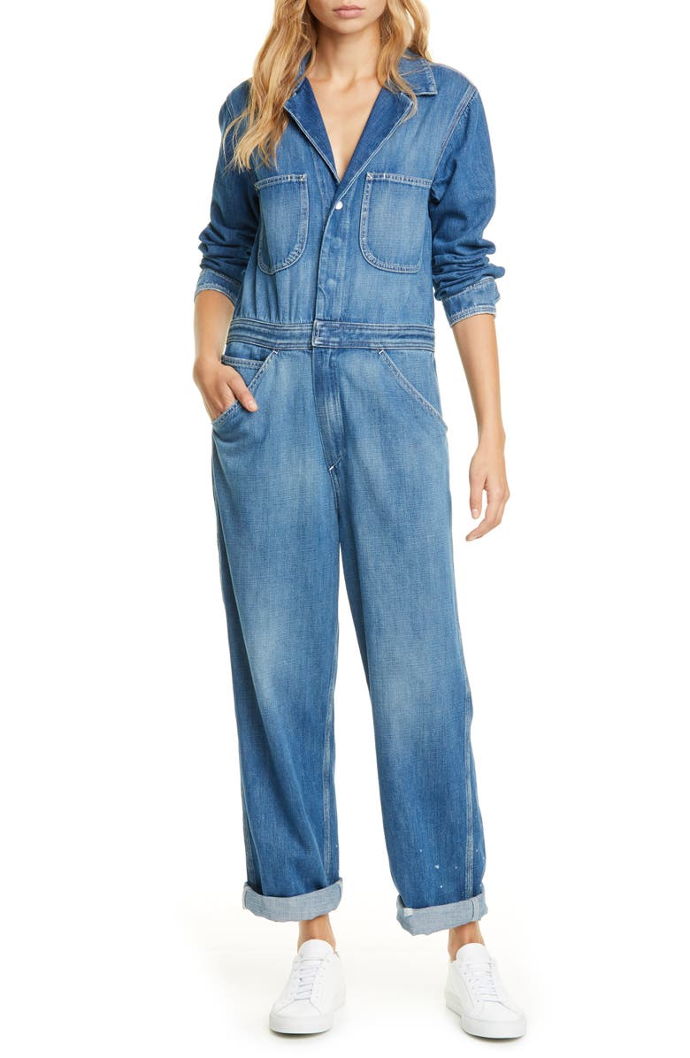 RAG & BONE Denim Boilersuit, Main, color, 420