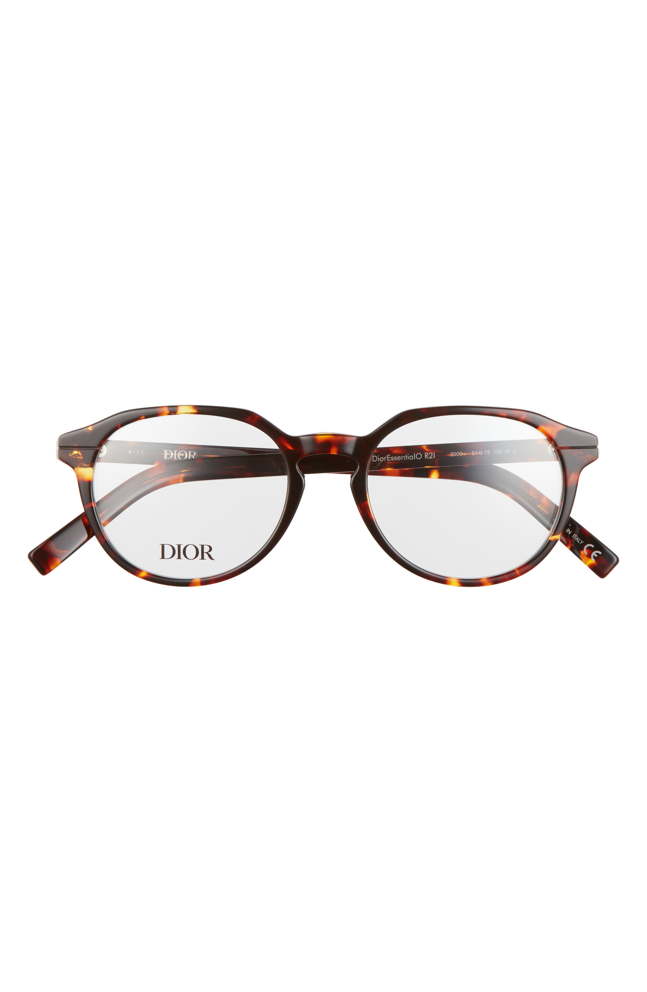 Men's Dior 51mm Round Optical Glasses