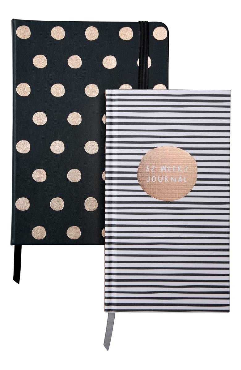 KIKKI.K Oh So Lovely Journal Set, Main, color, GREY/ GOLD