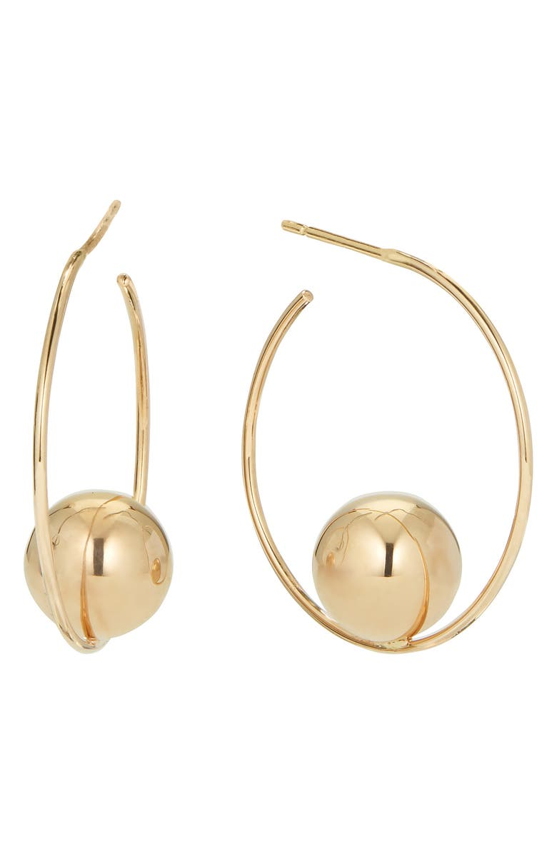 LANA JEWELRY Hollow Ball Small Hoop Earrings, Main, color, 710