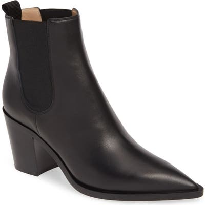 Gianvito Rossi Pointy Toe Chelsea Boot - Black