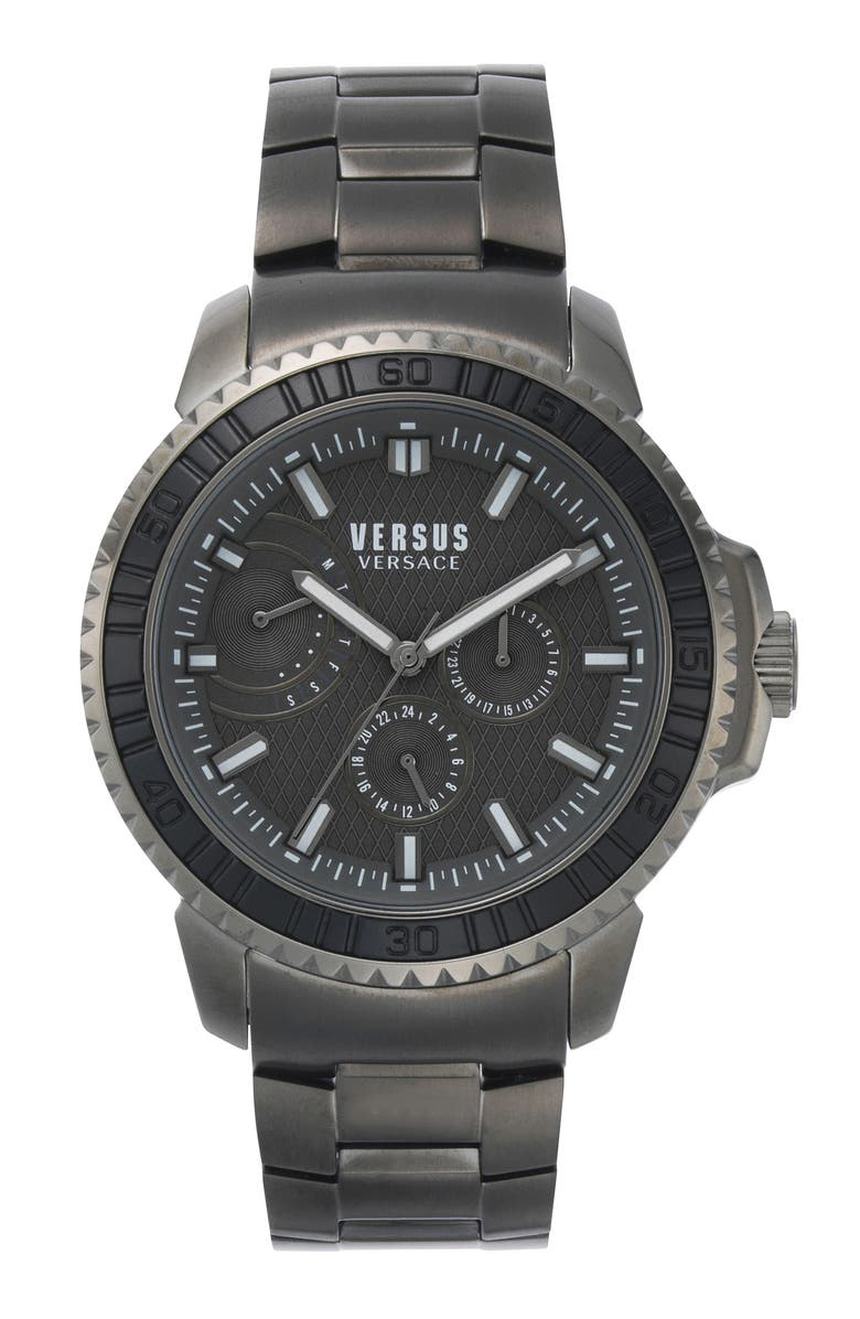 VERSUS VERSACE Aberdeen Bracelet Watch, 45mm, Main, color, GUNMETAL