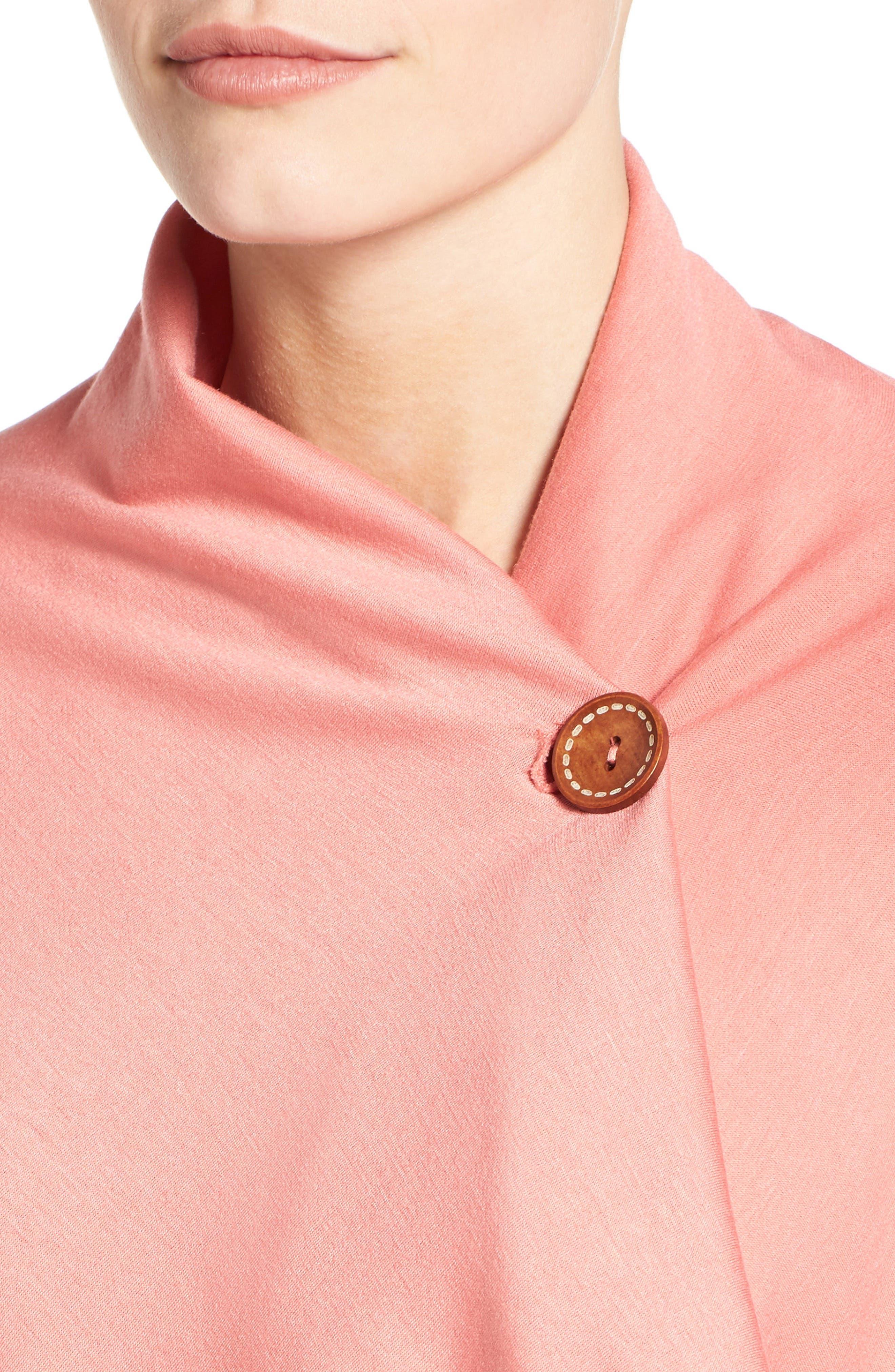 ,                             One-Button Fleece Wrap Cardigan,                             Alternate thumbnail 194, color,                             655