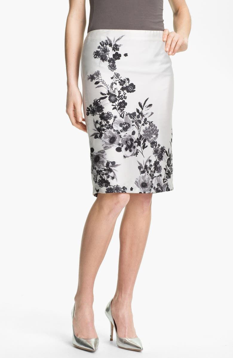 VINCE CAMUTO 'Graphic Garden' Pencil Skirt, Main, color, 900