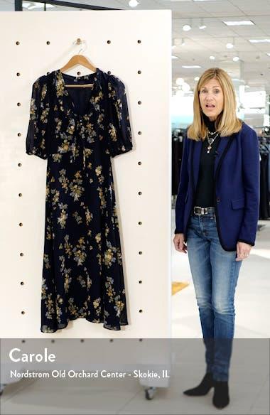Brook Floral Print Tie Neck Dress, sales video thumbnail