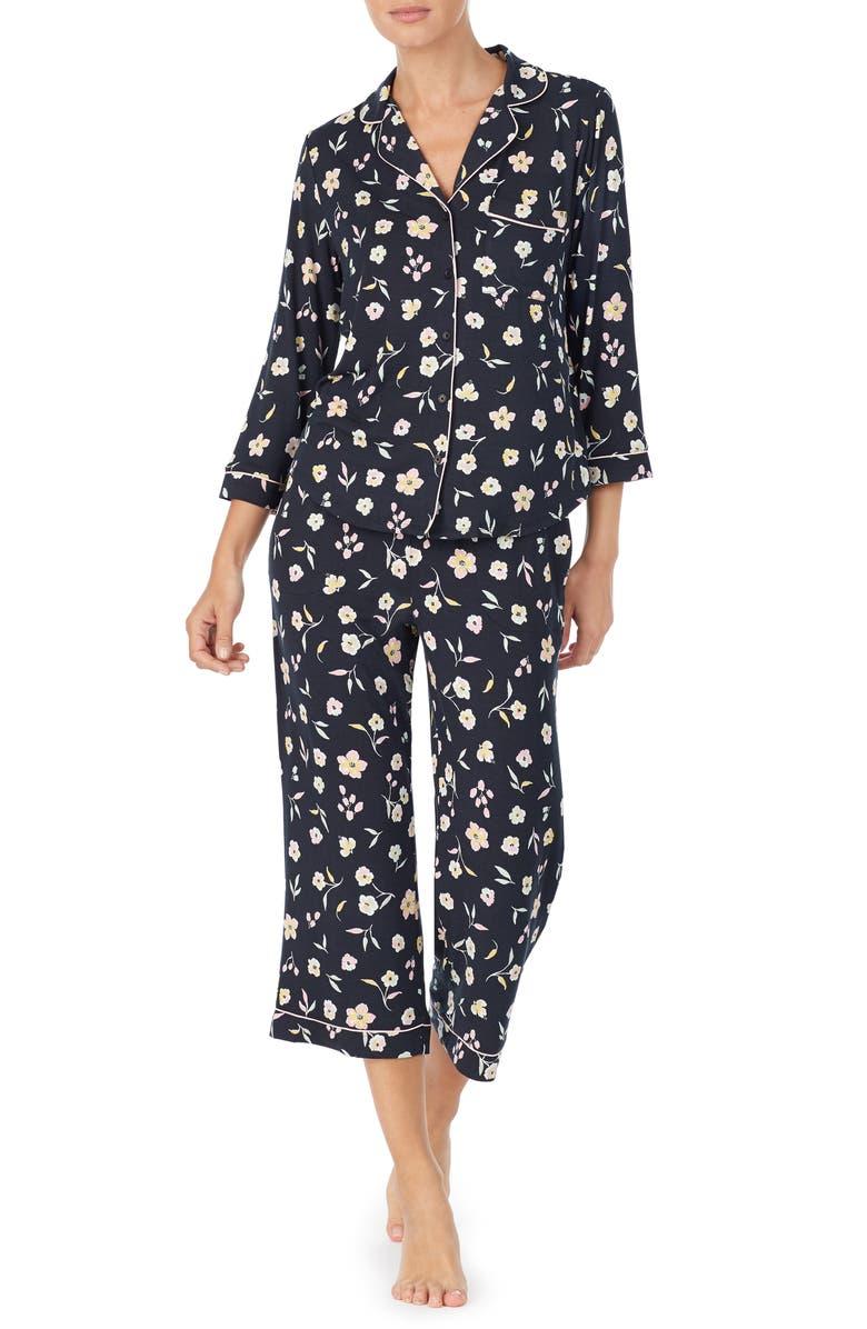 KATE SPADE NEW YORK capri pajamas, Main, color, 001