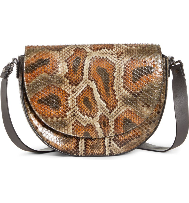 BRUNELLO CUCINELLI Genuine Python Shoulder Bag, Main, color, 200