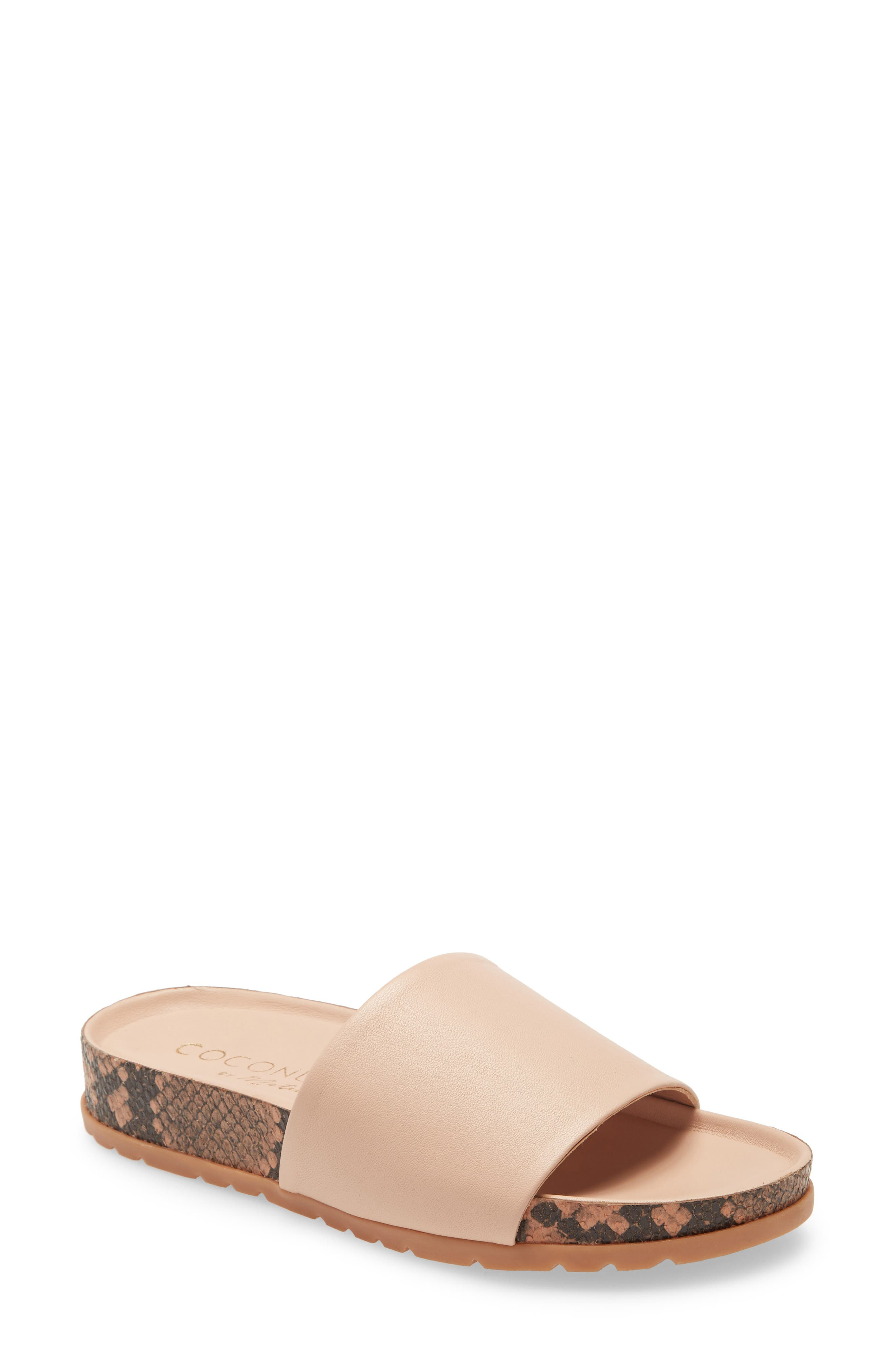 A slightly wild sole stamps a graceful slide sandal with a bit of edge. Style Name: Coconuts By Matisse Shift Slide Sandal (Women). Style Number: 5987484. Available in stores.
