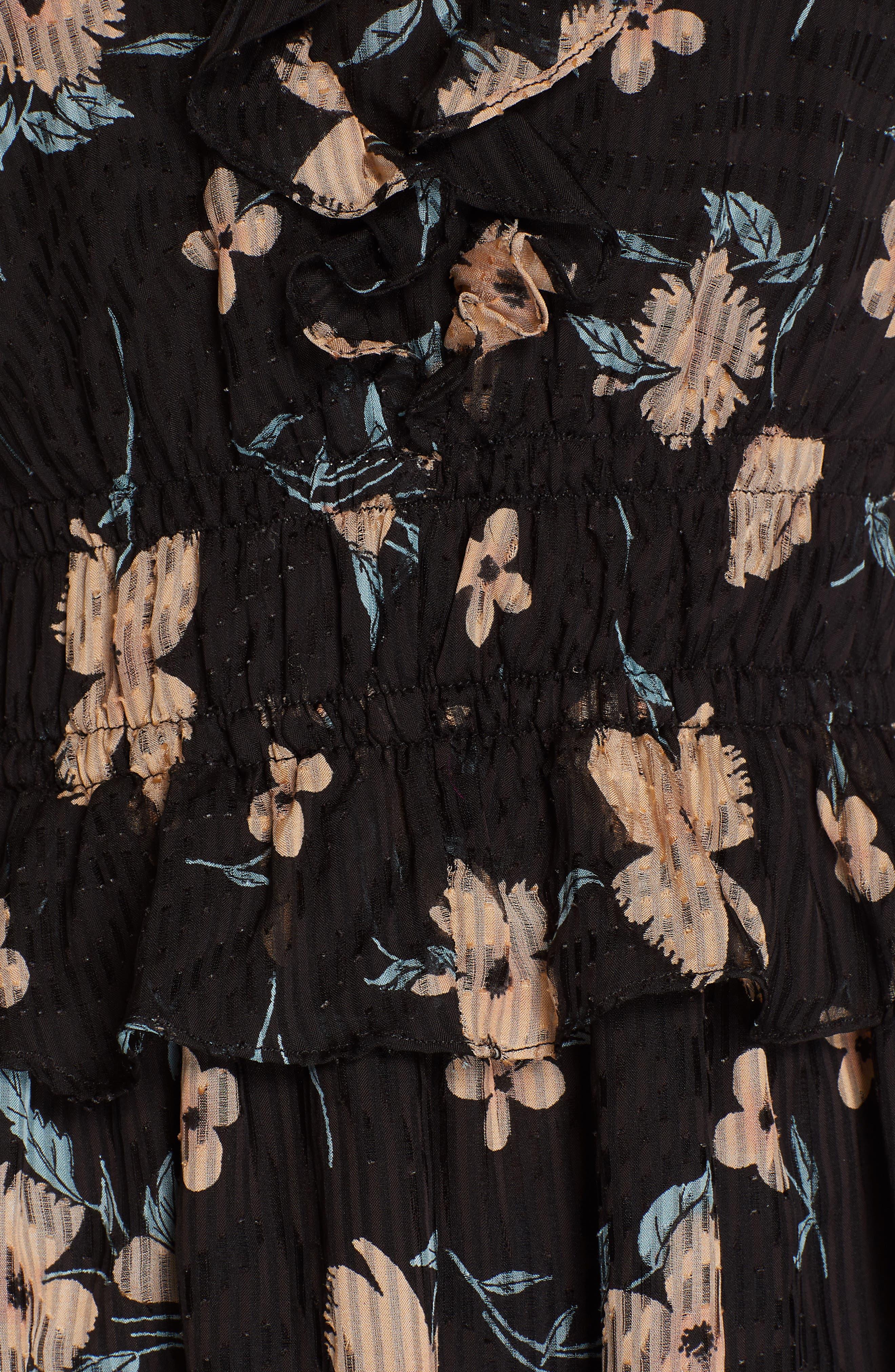 ,                             Daniella Floral Print Top,                             Alternate thumbnail 5, color,                             BLACK COMBO