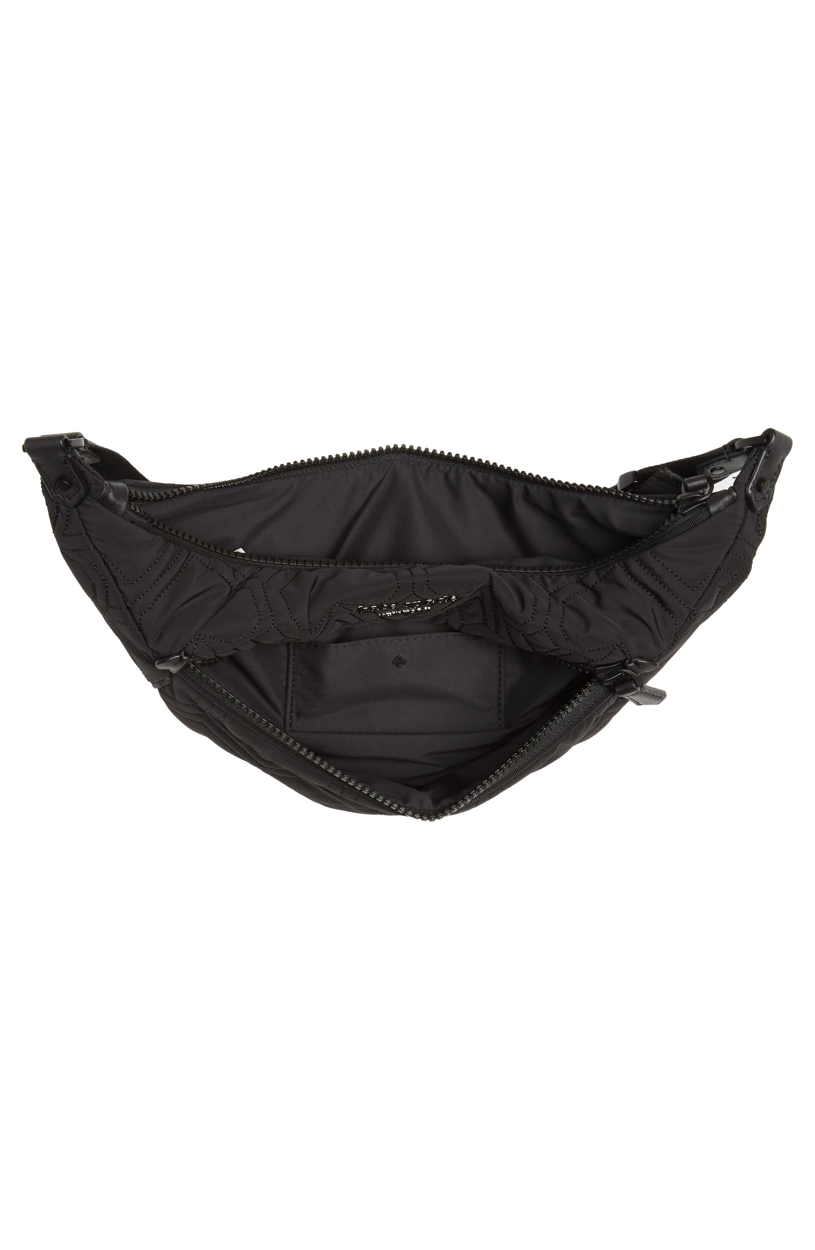 ,                             jayne heart quilted belt bag,                             Alternate thumbnail 5, color,                             BLACK