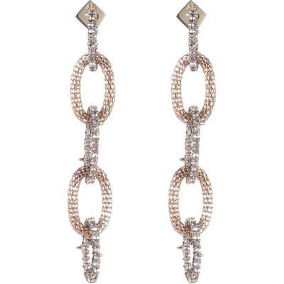 Alexis Bittar Crystal Encrusted Chain Drop Earrings