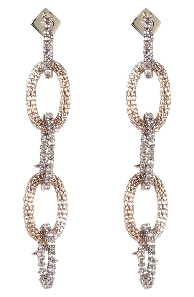 Crystal Encrusted Chain Drop Earrings by Alexis Bittar
