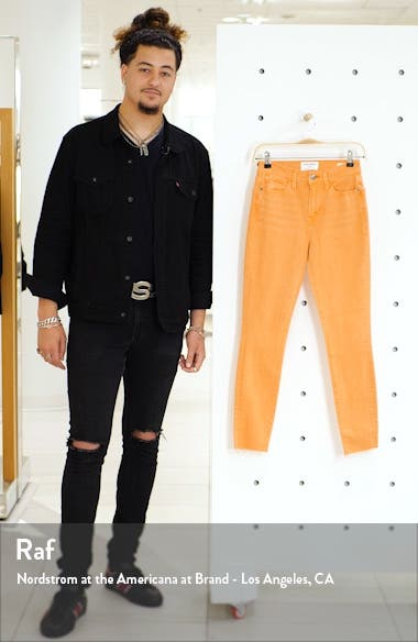 Le High Raw Edge Ankle Skinny Jeans, sales video thumbnail