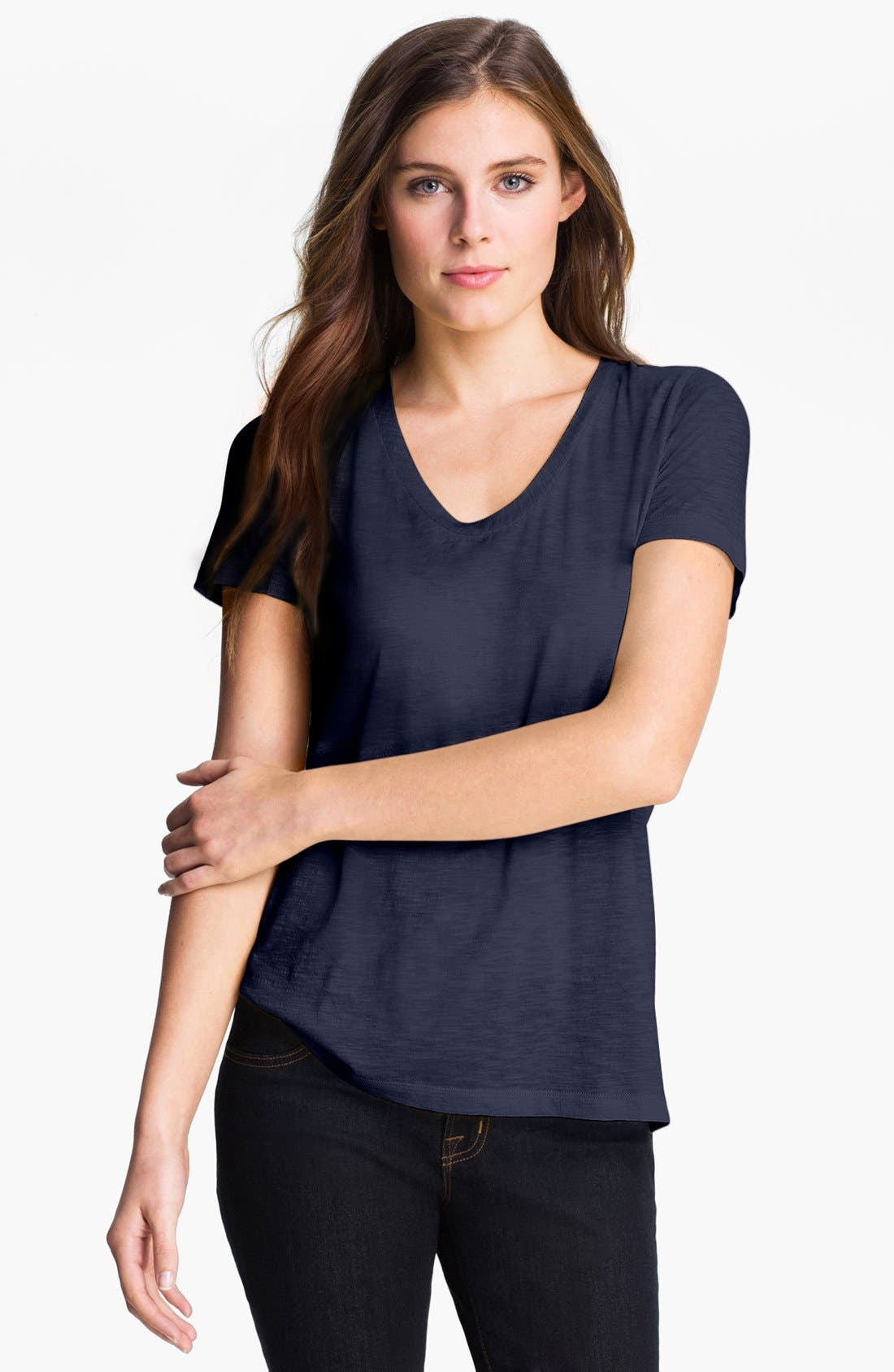 ,                             Relaxed Slub Knit U-Neck Tee,                             Alternate thumbnail 236, color,                             410