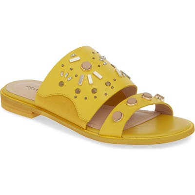 Kelsi Dagger Brooklyn Raven Embellished Slide Sandal, Yellow
