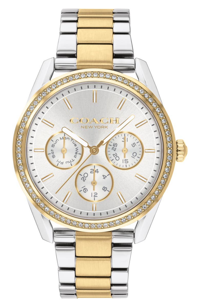 COACH Preston Bracelet Watch, 36mm, Main, color, SILVER/ GOLD