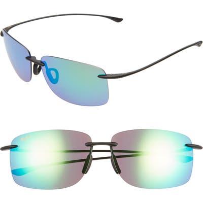 Maui Jim Hema 62mm Polarizedplus2 Oversize Rimless Sunglasses - Matte Black