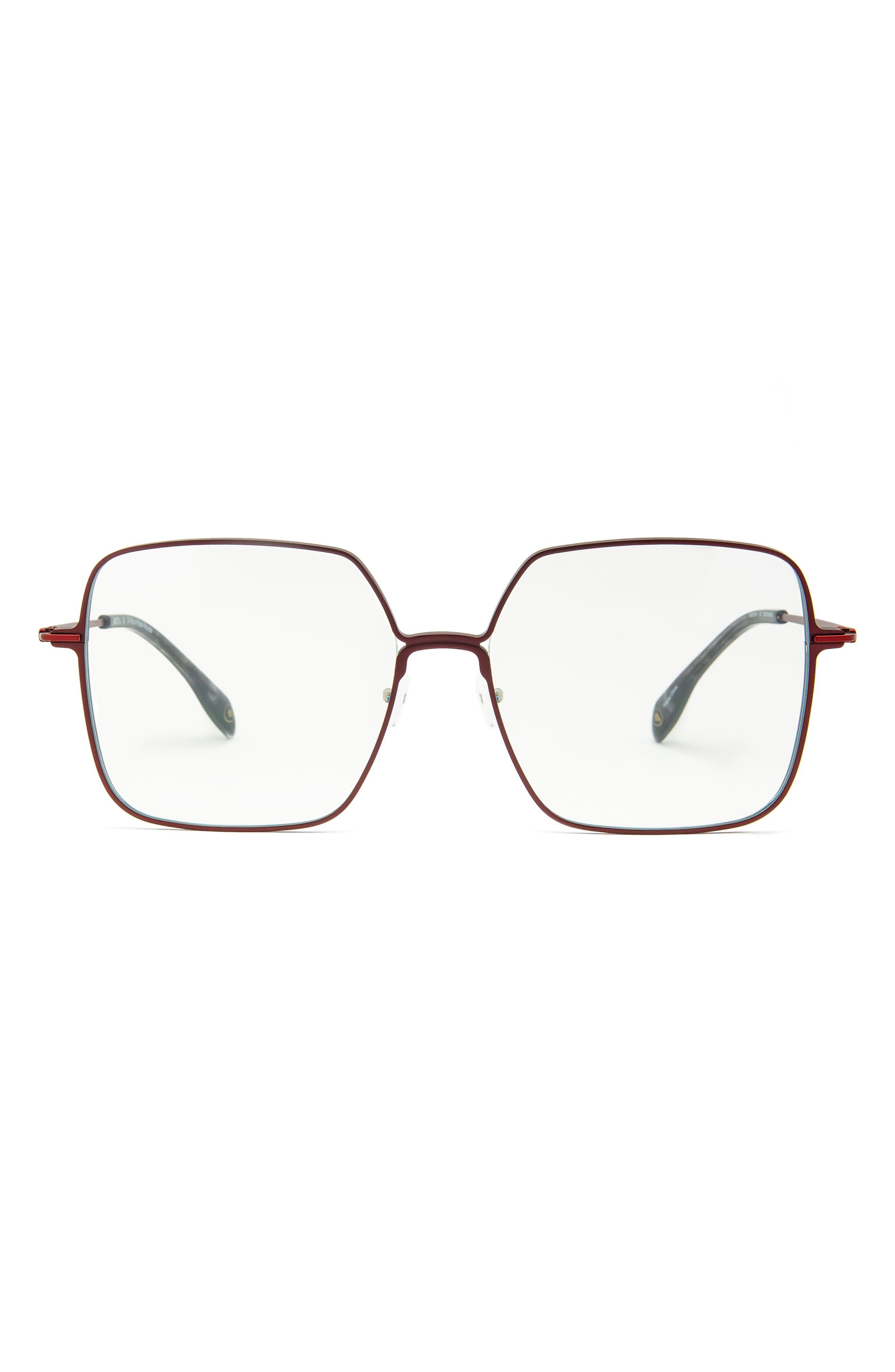 59mm Square Blue Light Blocking Glasses