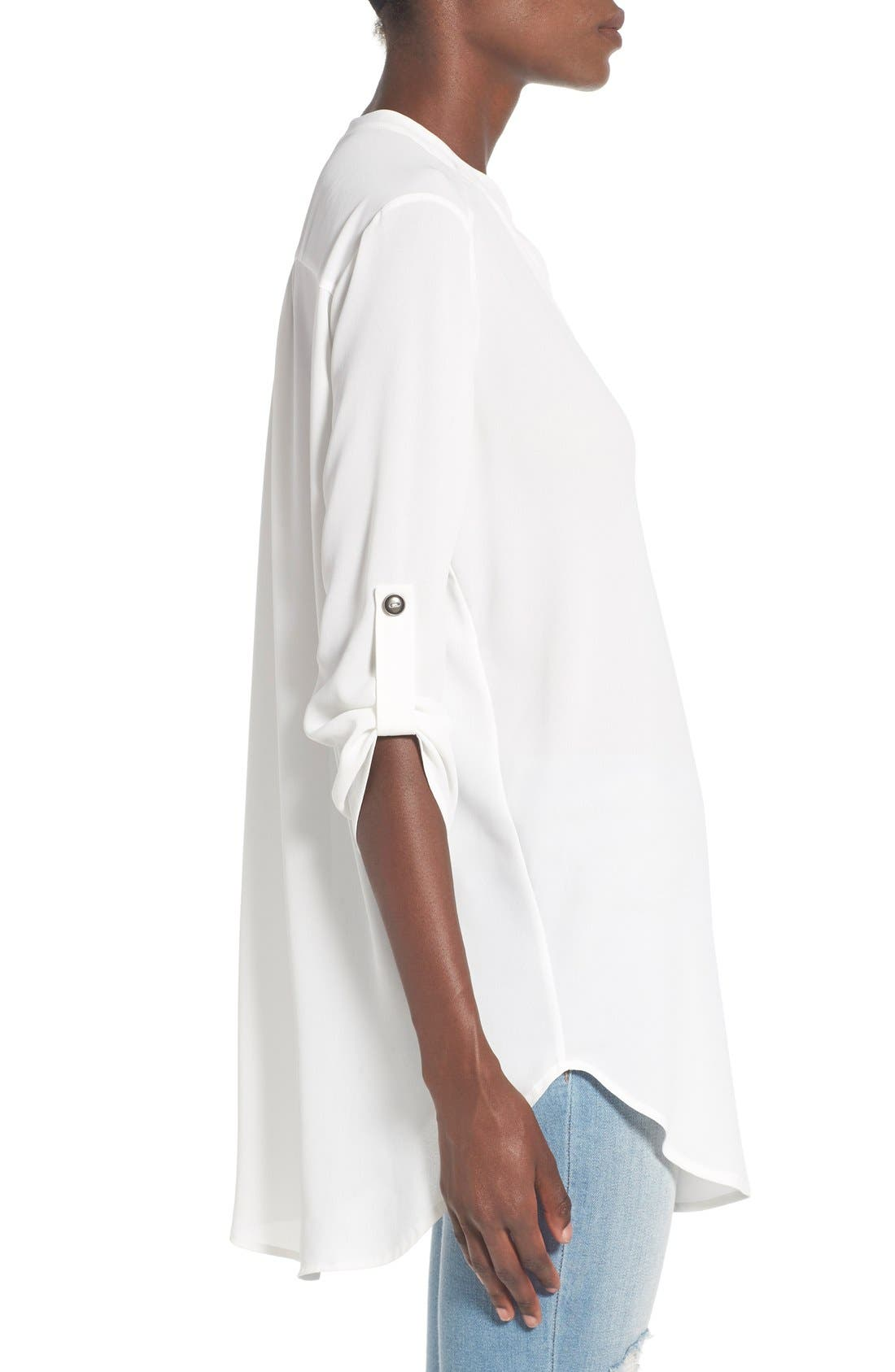 ,                             Perfect Roll Tab Sleeve Tunic,                             Alternate thumbnail 417, color,                             902