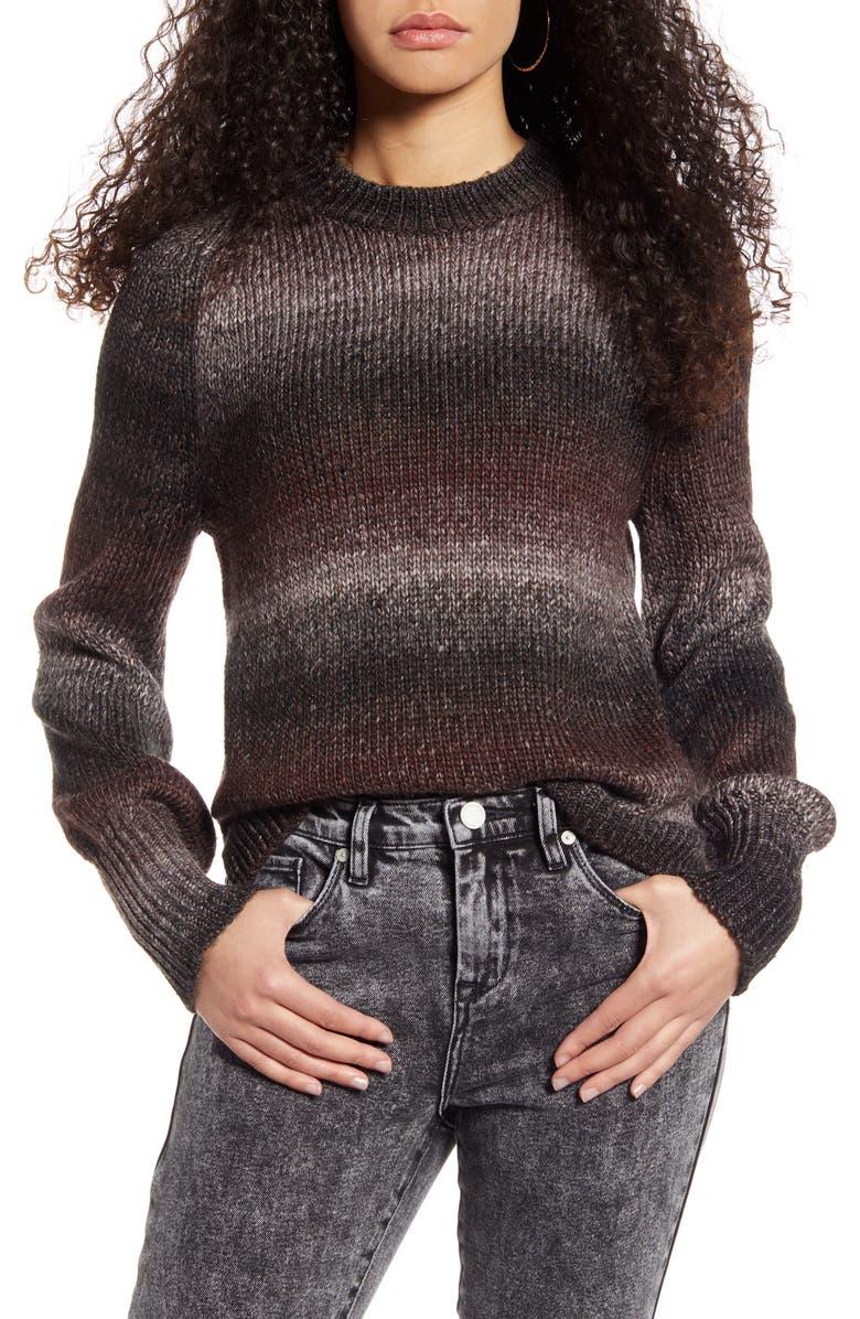 BP. Ombré Metallic Stripe Sweater, Main, color, 030