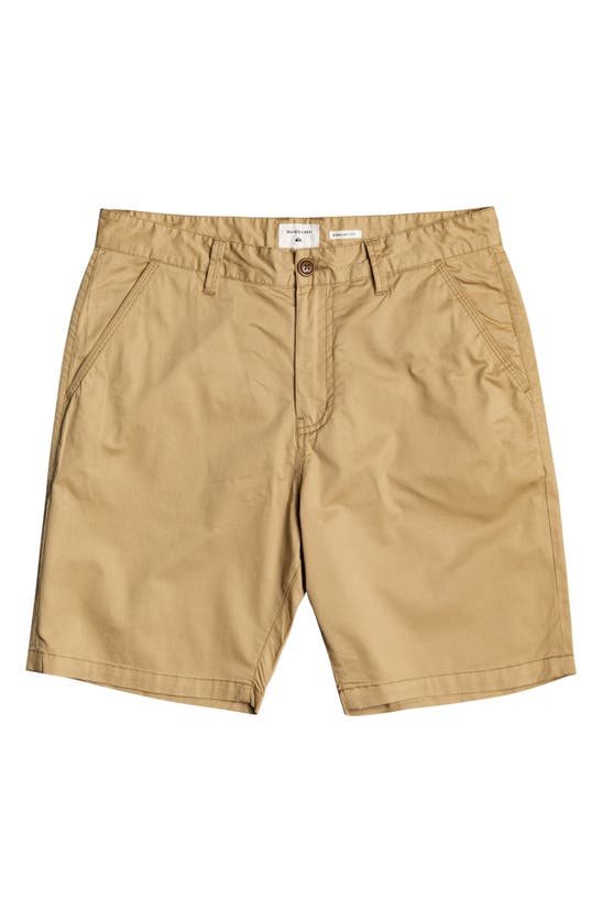 QUIKSILVER Cottons MAJOR STRAIGHT FIT CHINO SHORTS